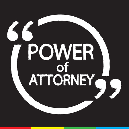 deeds: Power Of Attorney lettering Illustration design