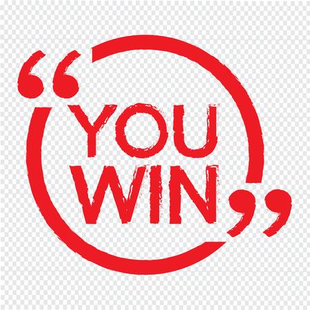 accomplishments: YOU WIN Illustration design