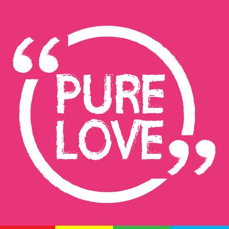 pure: PURE LOVE Illustration design