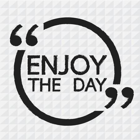 enjoy: ENJOY THE DAY Illustration Design