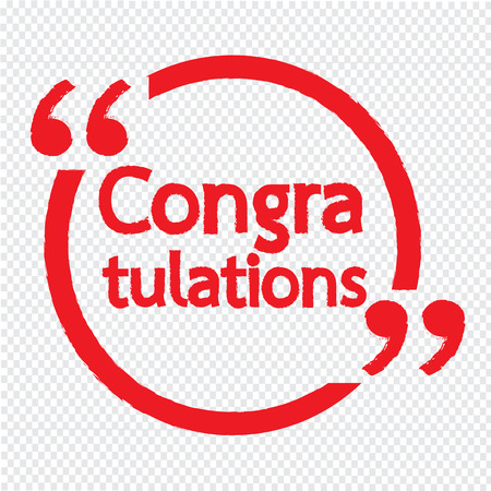 congratulate: Congratulations lettering Illustration design