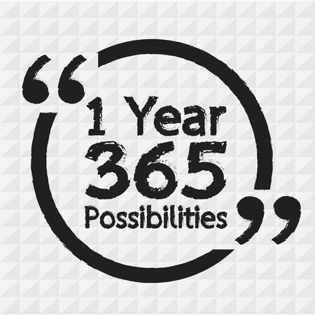 possibilities: 1 Year 365 Possibilities Lettering Illustration design