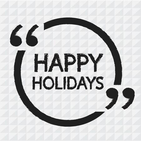happy holidays: HAPPY HOLIDAYS lettering Illustration design Illustration