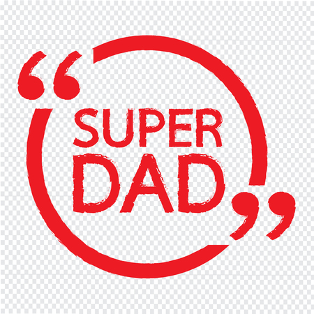 SUPER DAD Lettering Illustration design