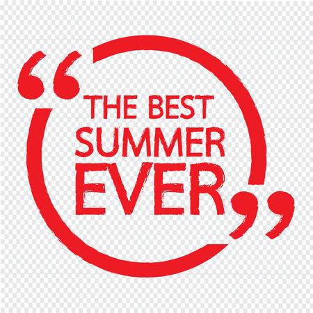 ever: THE BEST SUMMER EVER Lettering Illustration design