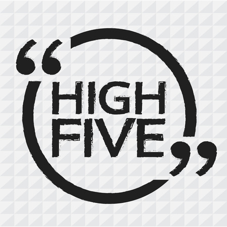 high five: HIGH FIVE Illustration design Illustration