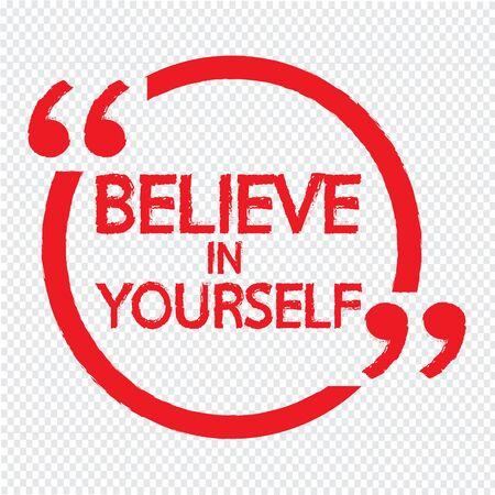 creer: Crea en s� mismo deletreado dise�o Ilustraci�n