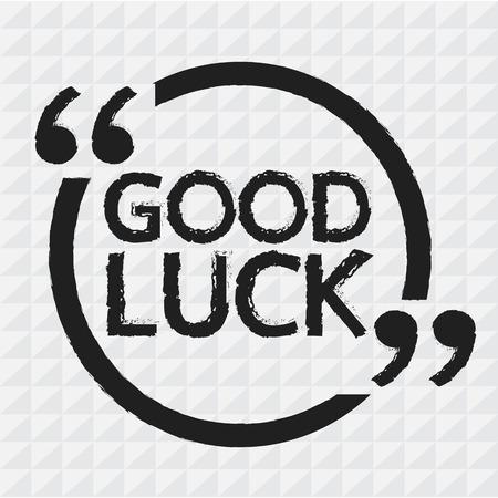 luck: GOOD LUCK Illustration design Illustration