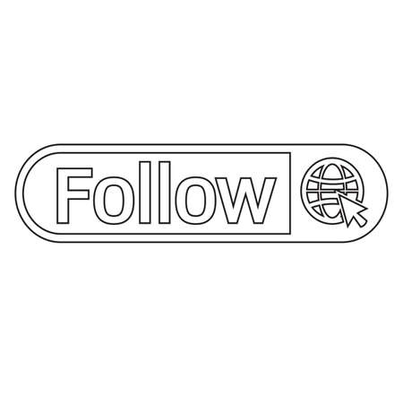 follower: follower icon Illustration design
