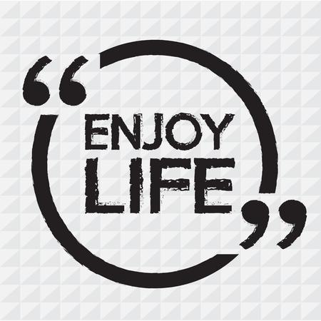 enjoy life: ENJOY LIFE lettering Illustration design Illustration
