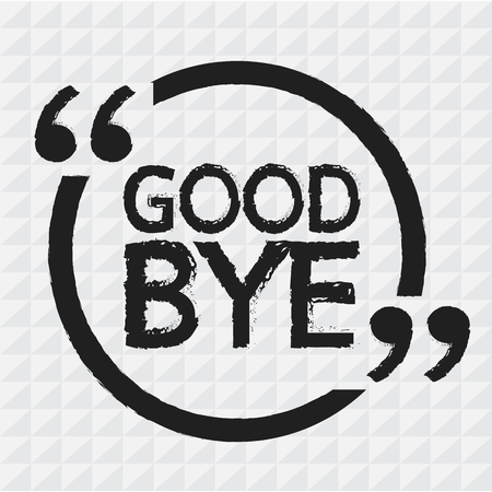 good bye: GOOD BYE Illustration design