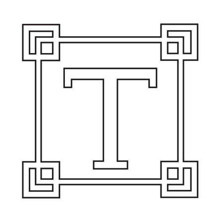 t document: Text edit sign icon Illustration design