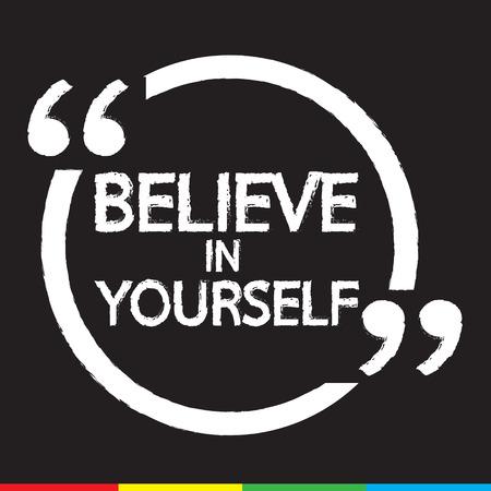 believe: Crea en s� mismo deletreado dise�o Ilustraci�n