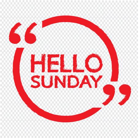 sunday: HELLO SUNDAY Illustration Design