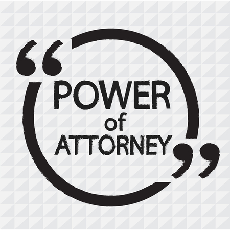 commissions: Power Of Attorney lettering Illustration design