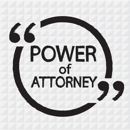 mandate: Power Of Attorney lettering Illustration design