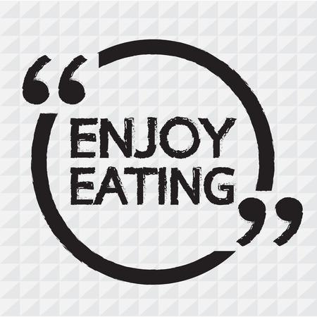enjoy: Enjoy Eating Lettering Illustration design