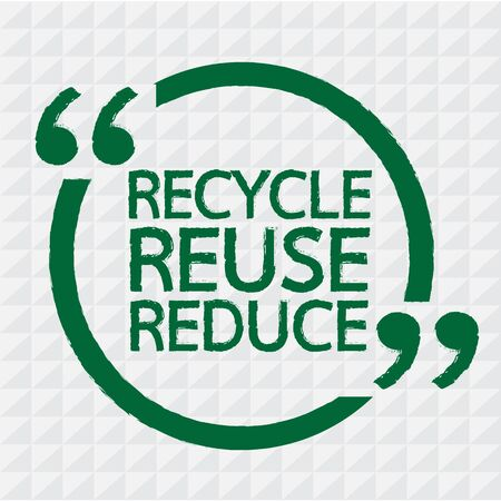 reduce: RECYCLE REUSE REDUCE Illustration design Illustration