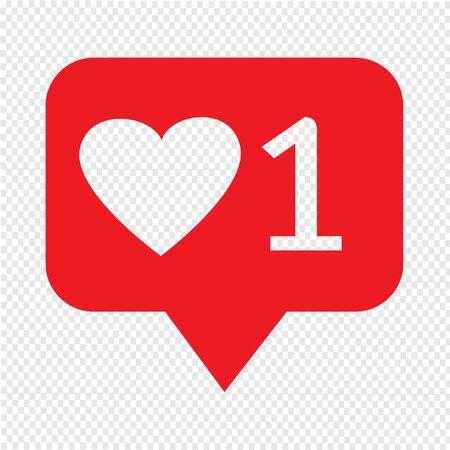design media love: Like Icon Illustration design