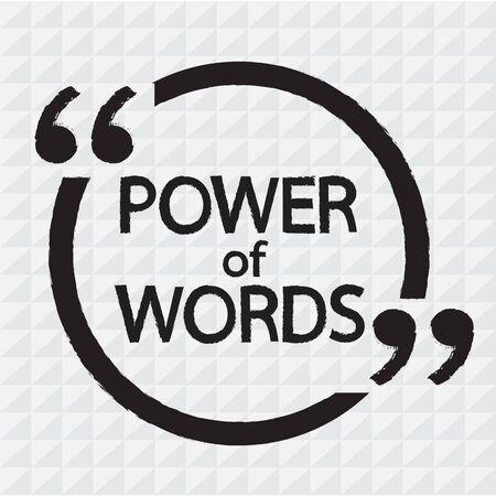 encouragements: POWER of WORDS lettering Illustration design