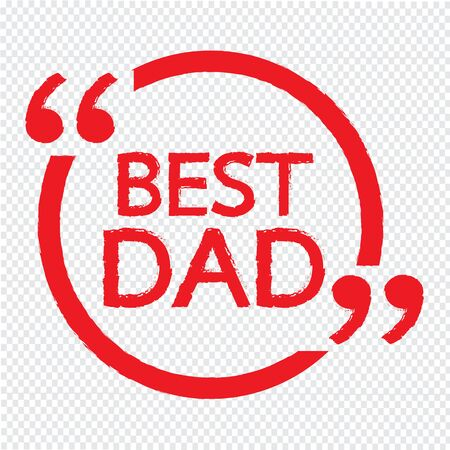 best dad: BEST DAD Lettering Illustration design Illustration