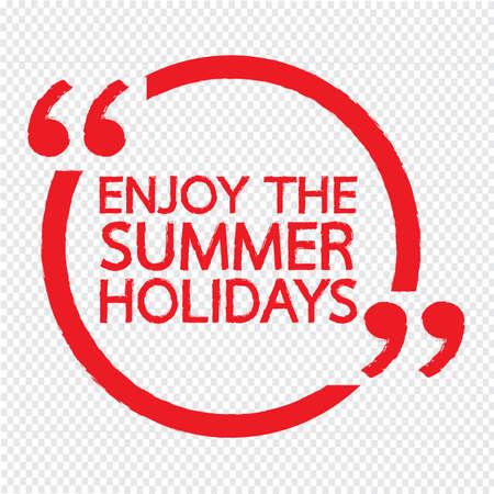 enjoy: ENJOY THE SUMMER HOLIDAYS Lettering Illustration design