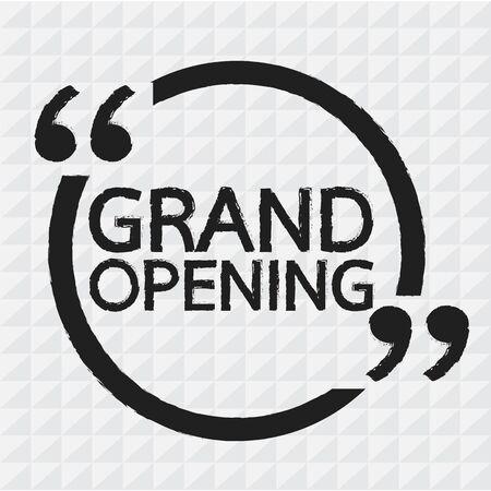 opening: GRAND OPENING Illustration design