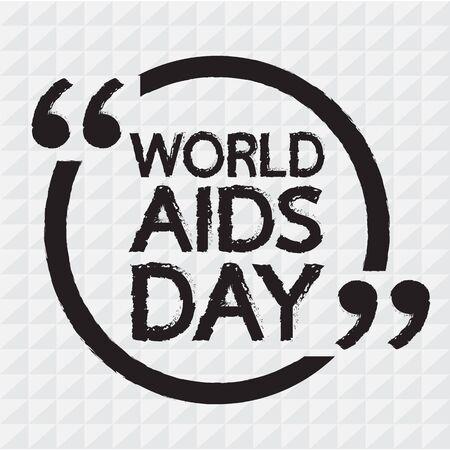 relaciones sexuales: SIDA D�A MUNDIAL letras Ilustraci�n de dise�o