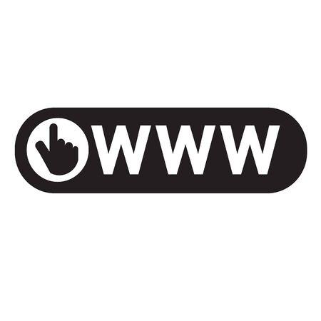 web: www web icon Illustration design