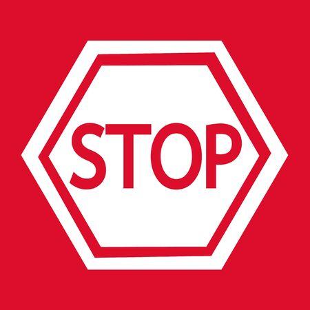 slow down: Stop Sign Icon Illustration design Illustration