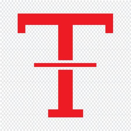 txt: Text Strikethrough edit icon Illustration design