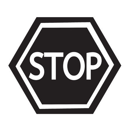 slow down: Stop Sign Icon Illustration design Illustration