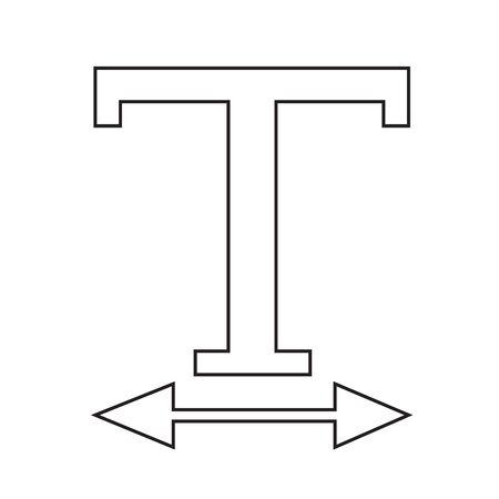 width: Text Width edit icon Illustration design