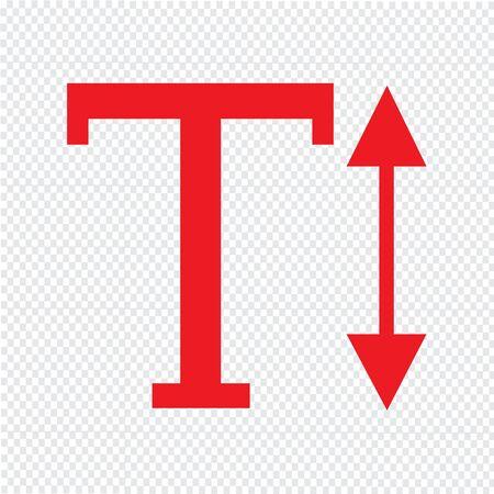 docs: Text Height edit sign icon Illustration design