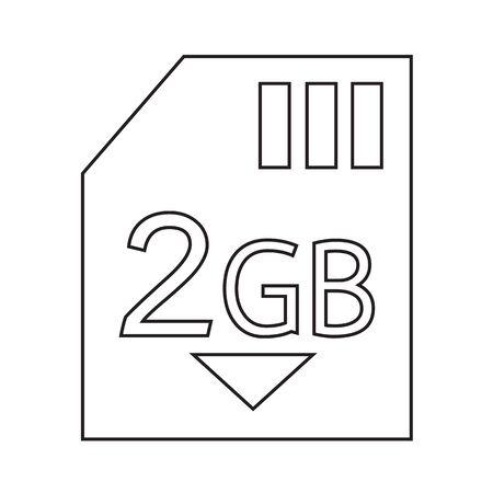 gb: Memory Card 2 Gb icon Illustration design