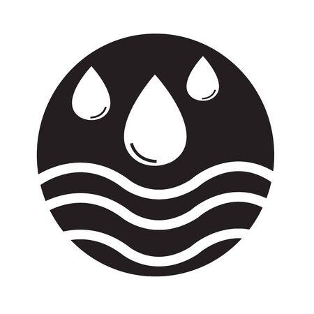 purified: water icon Illustration design Illustration