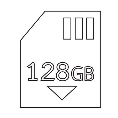 gb: Memory Card 128 Gb icon Illustration design Illustration