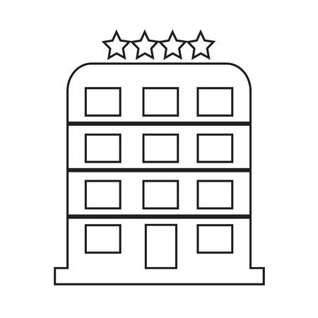 4 star: 4 Star Hotel icon Illustration design