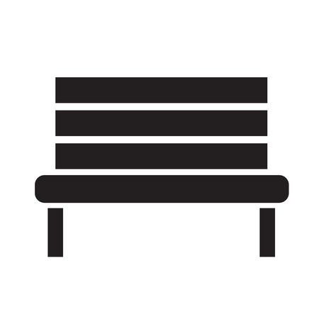 outdoor bench: Bench Icon illustration design Illustration