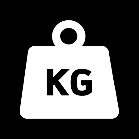 grams: Weight kilogram icon Illustration design