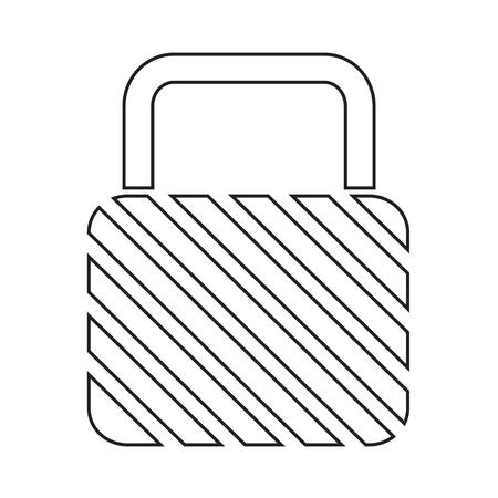 secured: Lock Icon illustration design