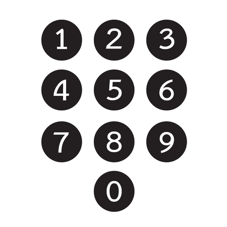 keypad icon illustration design