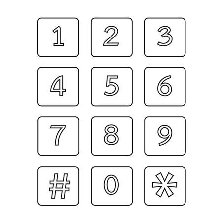 secret codes: keypad icon illustration design