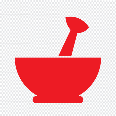 mortar and pestle: Mortar and pestle icon Illustration design Illustration