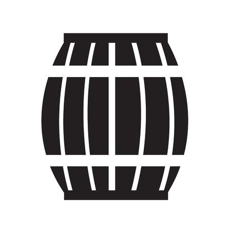 keg: Wooden Beer Keg Icon Illustration design