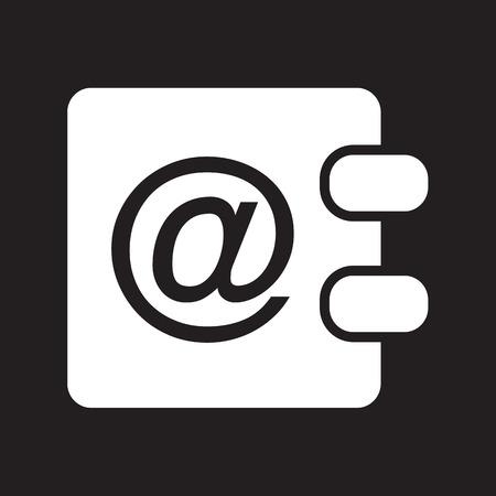 directory book: address book icon Illustration design Illustration