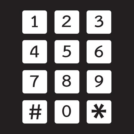 keypad: keypad icon illustration design