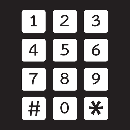 dial lock: keypad icon illustration design