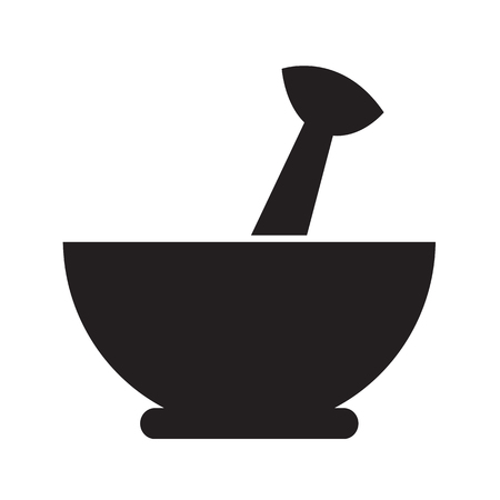 pestle: Mortar and pestle icon Illustration design Illustration