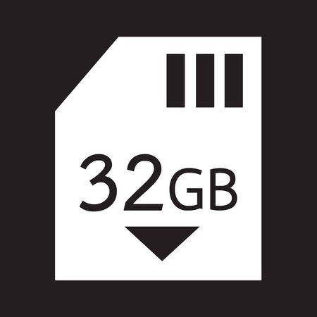 gb: Memory Card 32 Gb icon Illustration design